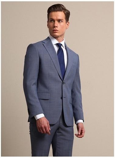 Kip Kip Regular Fit Mikro Desen Mavi Takım Elbise Mavi